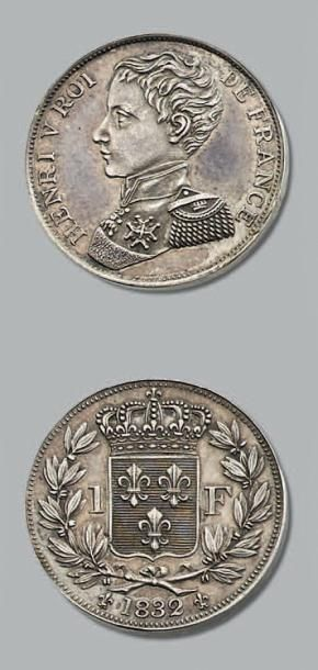 HENRI V (1820-1883) Franc. 1832. Argent....
