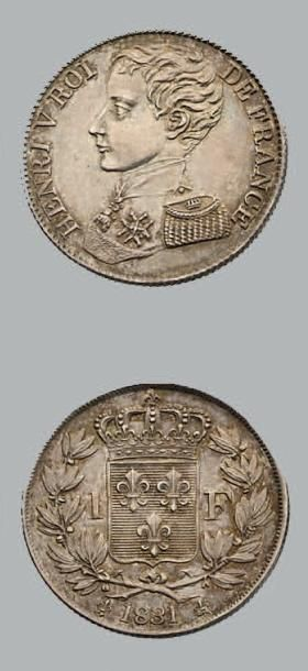HENRI V (1820-1883) Franc. 1831. Argent....