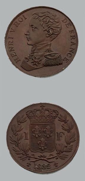 HENRI V (1820-1883) Franc. 1832. Cuivre....