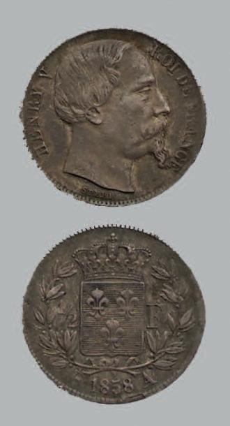 HENRI V (1820-1883) Demi-Franc. 1858A. Tête...