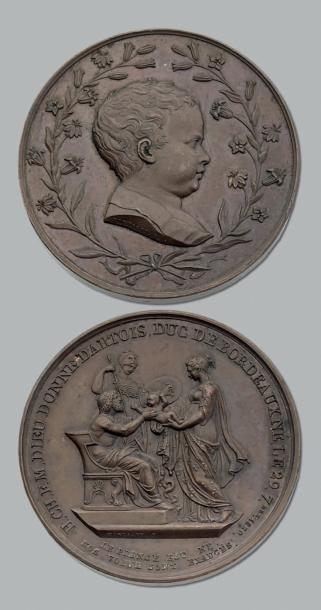 Buste du Duc de Bordeaux enfant. Montagny....