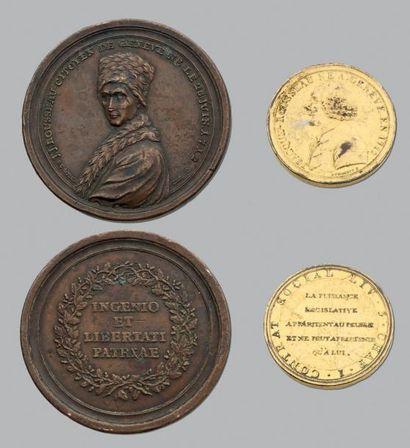 Rousseau: 5 Médailles en bronze et bronze...