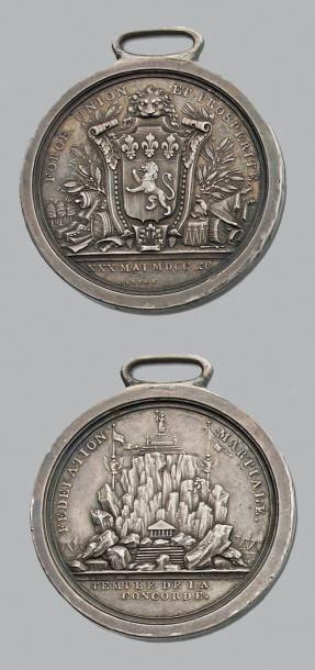 30 Mai 1790 Fédération de Lyon. Temple de...