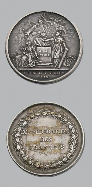 14 Juillet 1790 Cérémonie de la Confédération des Français (Gatteaux). Argent. 41...