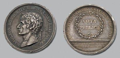 An XI. Réunion du Piémont à la France. Lavy. Tête laurée de Bonaparte à gauche....
