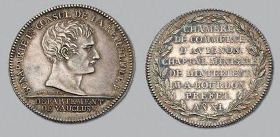 An XI. Jeton chambre de commerce d'Avignon....