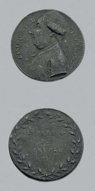 Necker: 8 Médailles en bronze et métaux divers....