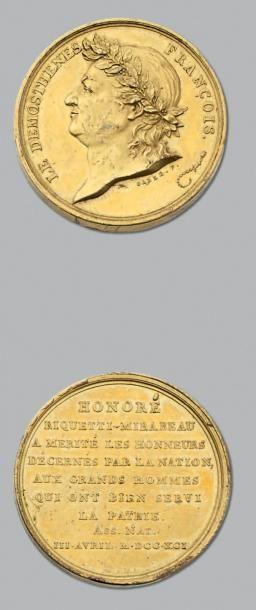 Mirabeau: 7 Médailles en bronze, bronze doré...