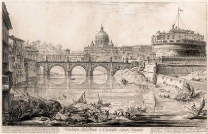 Veduta del Ponte e Castello Sant'Angelo,...