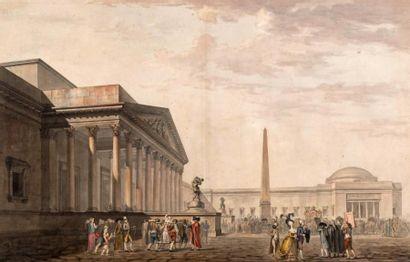 Attribué à Philibert-Louis DEBUCOURT (Paris, 1755 - Belleville, 1832)
