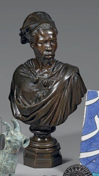 Buste de soudanais, Europe, XIXe siècle....