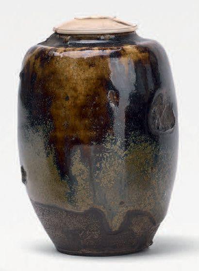 Fours de Seto - Époque EDO (1603-1868), XVIIe/XVIIIe siècle Chaire (pot à thé) de...