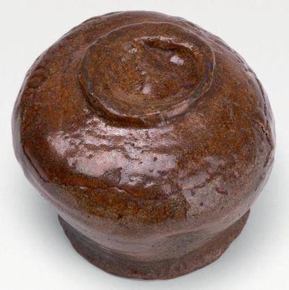Fours de Raku - Époque EDO (1603-1868), XVIIIe siècle Chawan (bol à thé) de forme...