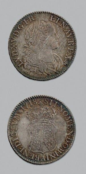LOUIS XV (1715-1774) Écu de Navarre. 1718....