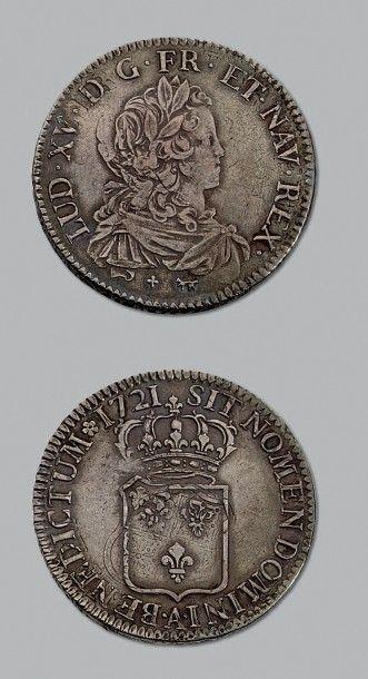 LOUIS XV (1715-1774) Écu de France. 1721....
