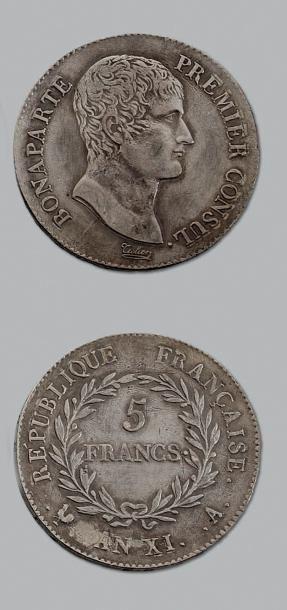 CONSULAT (1799-1804) 5 francs Bonaparte,...