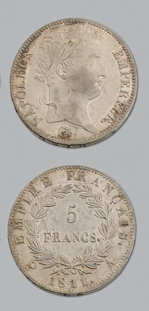 PREMIER EMPIRE 5 francs, tête laurée. 1811....