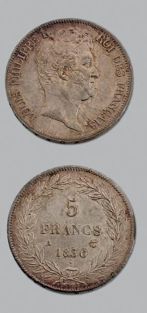 LOUIS-PHILIPPE (1830-1848) 5 francs, tête...