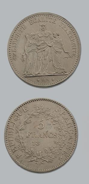 TROISIÈME RÉPUBLIQUE (1871-1940) 5 francs....