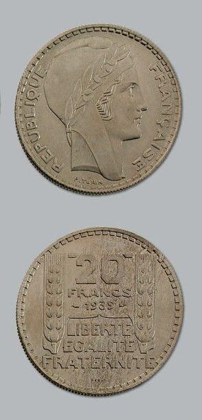 TROISIÈME RÉPUBLIQUE (1871-1940) 20 francs...