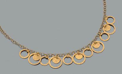 Collier articulé en or jaune 750 millièmes,...