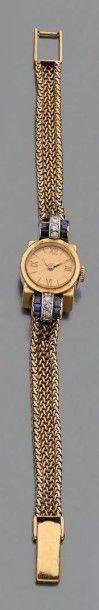 Montre-bracelet de dame en or jaune 750 millièmes,...