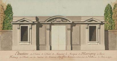 Atelier de Jacques-Germain SOUFFLOT (1713-1780) Élévation de l'entrée de l'hôtel...