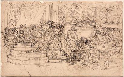 ÉCOLE ROMAINE du XVIIe siècle, entourage de Francesco MOLA (1612-1666)
