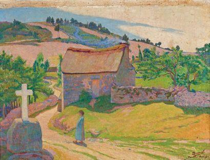George-Daniel de MONFREID (1856-1929) Paysage de Lozère, Vareilles, 1891 Huile sur...