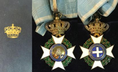 Grèce - Ordre du Sauveur, croix de commandeur...