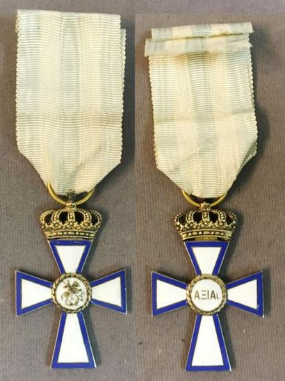 Grèce - Croix de la Valeur, instituée en...