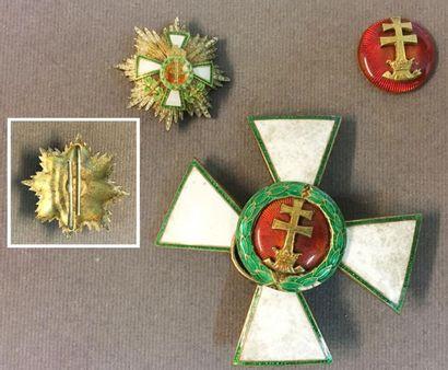 Hongrie - Ordre du Mérite, fondé en 1922,...