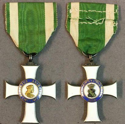 Allemagne, royaume de Saxe - Ordre d'Albert le Valeureux, fondé en 1850, croix de...