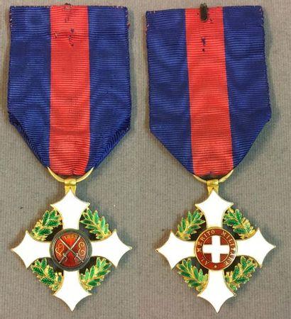 Italie - Ordre du Mérite Militaire de Savoie,...