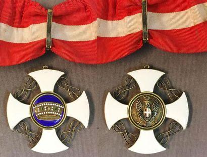 Italie - Ordre de la Couronne, croix de commandeur...