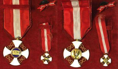 Italie - Ordre de la Couronne, croix de chevalier...