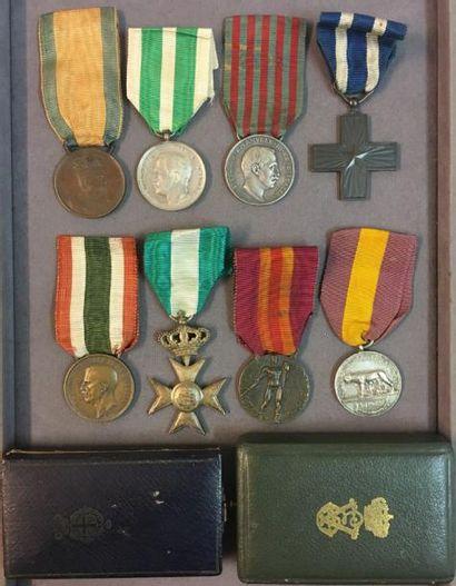 Italie - Lot de huit médailles en taille...
