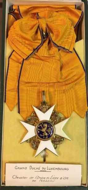 Luxembourg - Ordre du Lion d'or de la Maison...