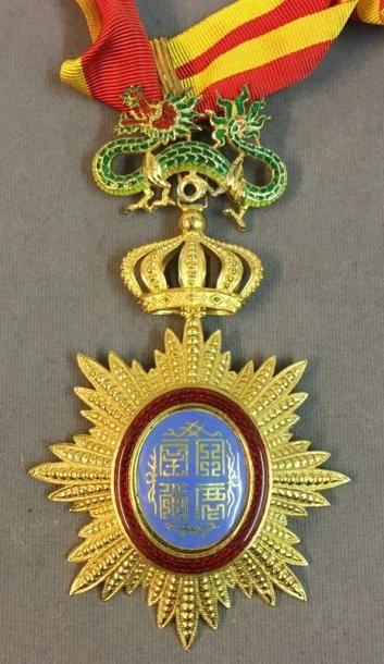 Annam - Ordre du Dragon, bijou de commandeur...