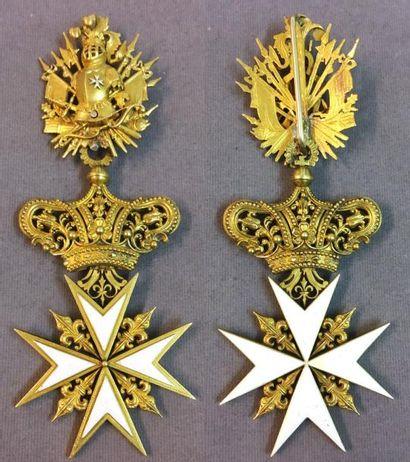 Ordre de Malte, croix de chevalier d'honneur...