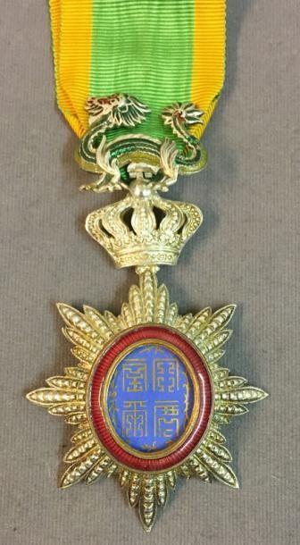 Annam - Ordre du Dragon, insigne de chevalier...