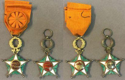 Maroc - Ordre du Ouissam Alaouite, lot de...