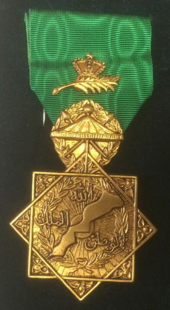 Maroc - Médaille de l'opération al-Qadr,...