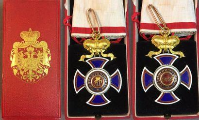 Monténégro - Ordre de Danilo, croix de 3e...