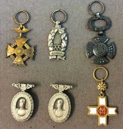 Pérou et divers - Lot de six miniatures sans...
