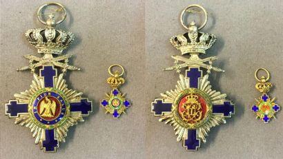 Roumanie - Ordre de l'Étoile, lot de deux:...
