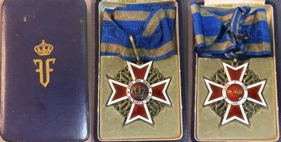Roumanie - Ordre de la Couronne, croix de...