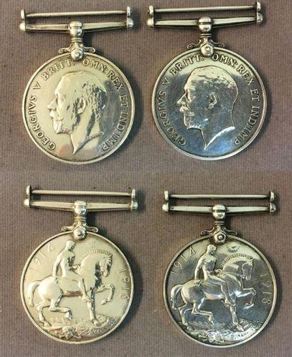 Royaume-Uni - Lot de deux médailles commémoratives...