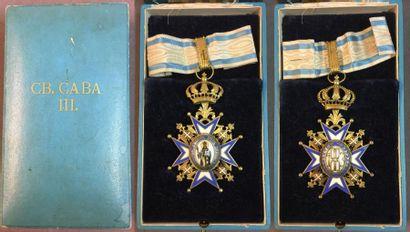 Serbie - Ordre de Saint-Sava, fondé en 1883, bijou de 3e classe (commandeur) du...