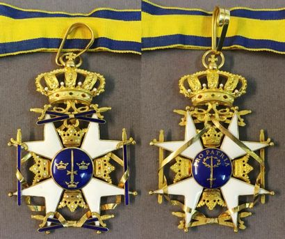 Suède - Ordre de l'Épée, fondé en 1748, croix...